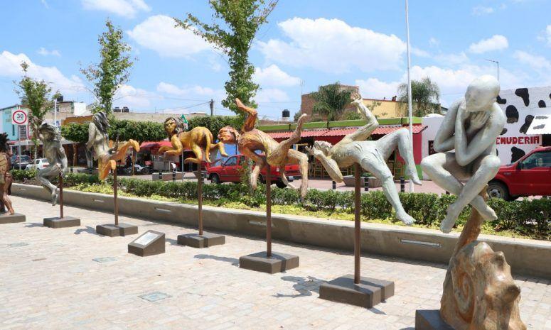 Los Guardianes de la Reina, museo artesanal al aire libre en Tonalá